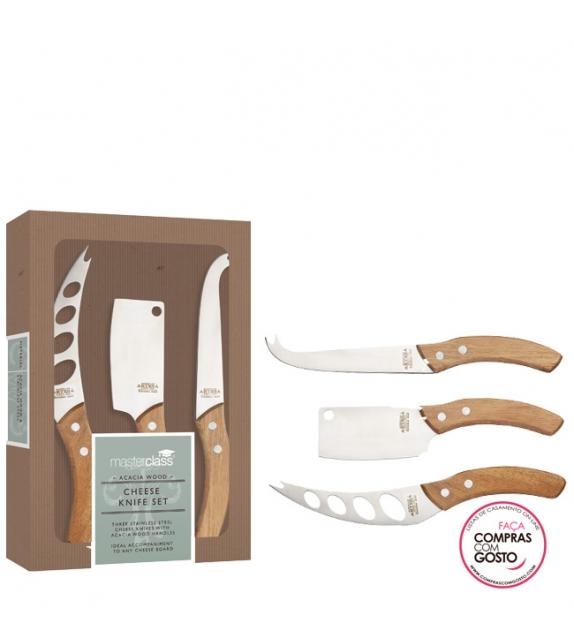 Conjunto 3 facas de queijo Artesá