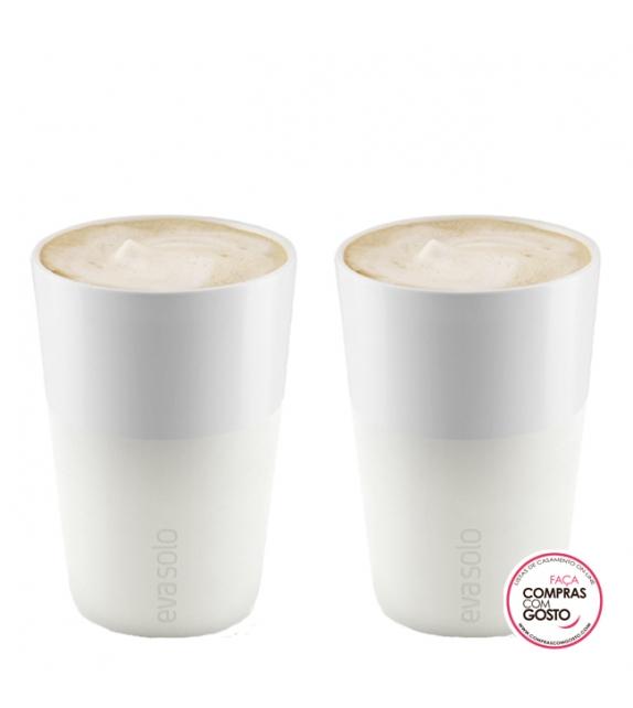 Par de copos café com leite Eva Solo